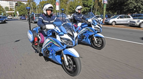 Yamaha for Police: due FJR 1300 a Milano