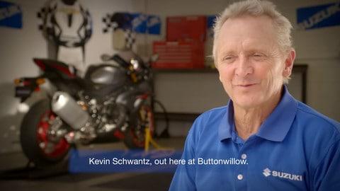 Kevin Schwantz in sella alla GSX-R 1000 R!