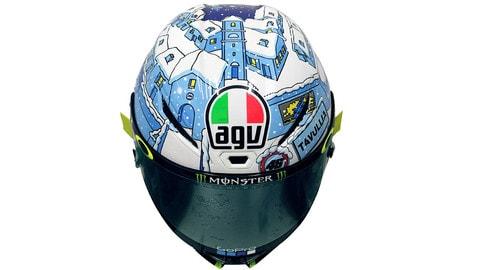 """Rossi e il casco AGV Pista GPR """"Winter Test"""""""