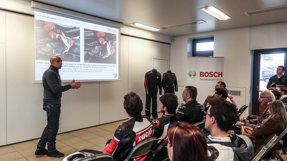 Ducati DRE Safety, a scuola di sicurezza con Bosch