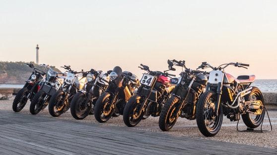 Yamaha, otto nuove Yard Built al Wheels and Waves