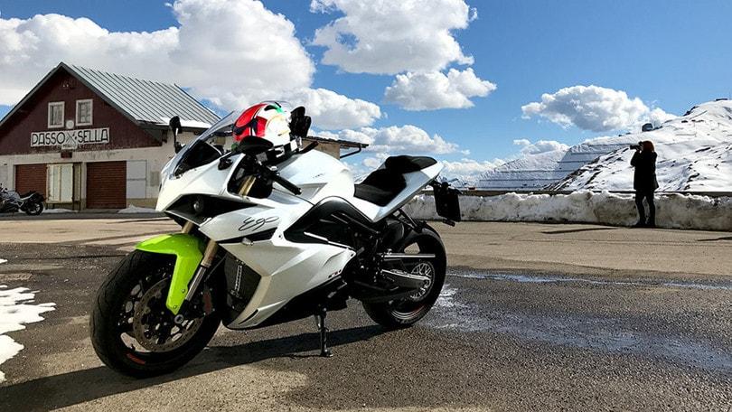 Moto Energica per le Dolomiti