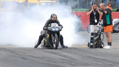 Drag-Racing, il burnout