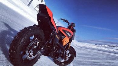 Ruben Xaus sulla Harley-Davidson a Snowquake