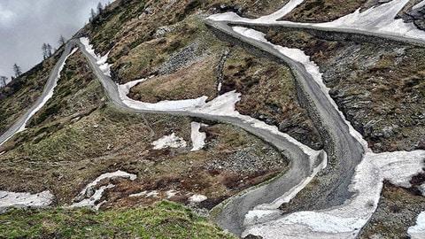 Itinerario 'moto e neve' in Piemonte - LE FOTO