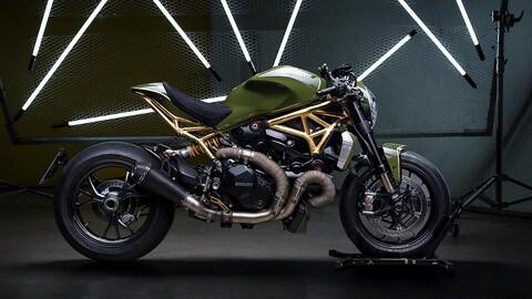Ducati Monster 1200 R Gold, oro a 24 carati