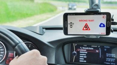 Guida contromano: arriva l'allarme Bosch