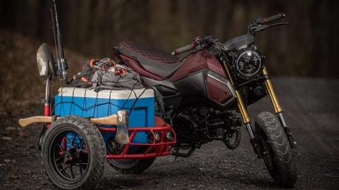 Honda: la MSX125 diventa un sidecar - LE FOTO