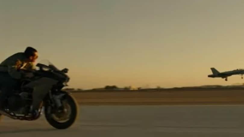 'Top Gun: Maverick', Tom Cruise sulla Ninja H2