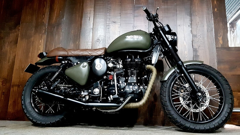 Royal Enfield Desert Storm 500, Bulleteer Customs la trasforma in scrambler