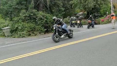Prova di accelerazione Harley-Davidson LiveWire