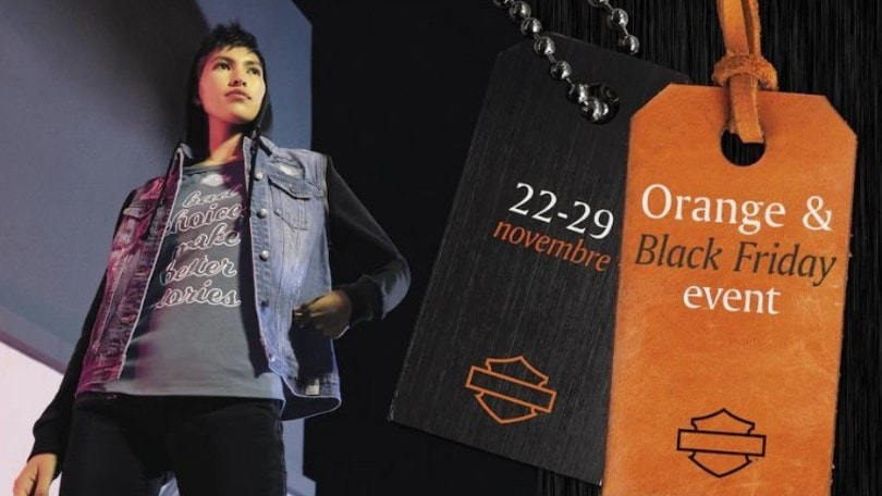 Harley Davidson, abbigliamento in saldo con l'Orange&Black Friday