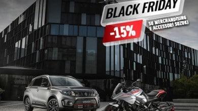 Suzuki, Black Friday: sconto del 15% su abbigliamento e accessori