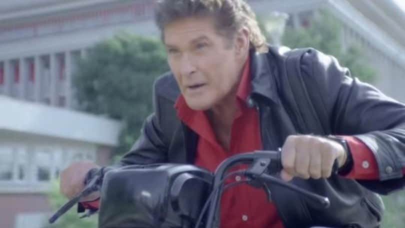 Michael Knight, da Supercar al motorino: lo spot esilarante -VIDEO-