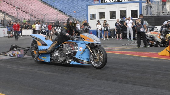 Top Fuel Bike, la Gulf di Ian King: più di un F15 al decollo