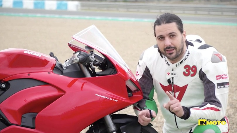 Ducati Panigale V2: che giri a Jerez VIDEO