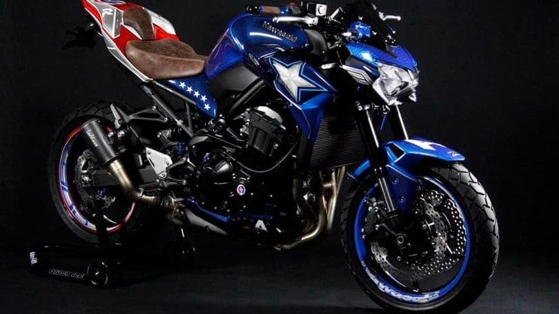 Kawasaki Z 900 by 2-Rad Wehrli:dedicata a Captain America