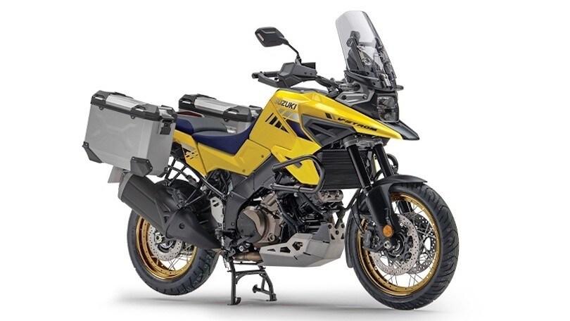 Sidecarrier permanent mounted - black for Suzuki V-Strom