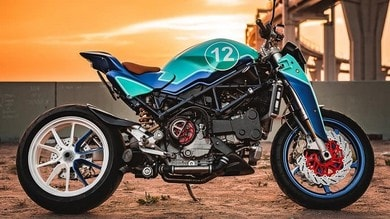 """The Strontium"", interessante Ducati Monster turbo"