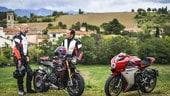Con Stefano Accorsi in sella alle MV Agusta: arte italiana