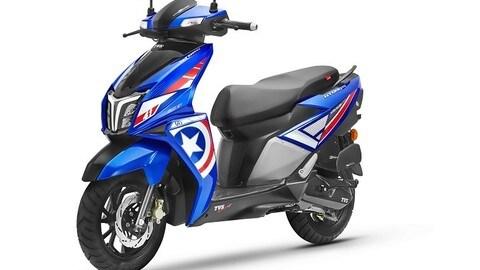 TVS, gli scooter con la livrea degli Avengers: FOTO