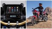Honda, l'Africa Twin si aggiorna: arriva la compatibilità Android Auto