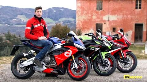 Video-Comparativa: Aprilia RS 660 Vs Honda CBR650R Vs Kawasaki Ninja 650