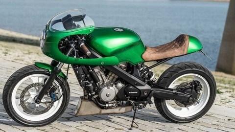 """Honda NTV650 """"Green Goblin"""" by WiMoto"""