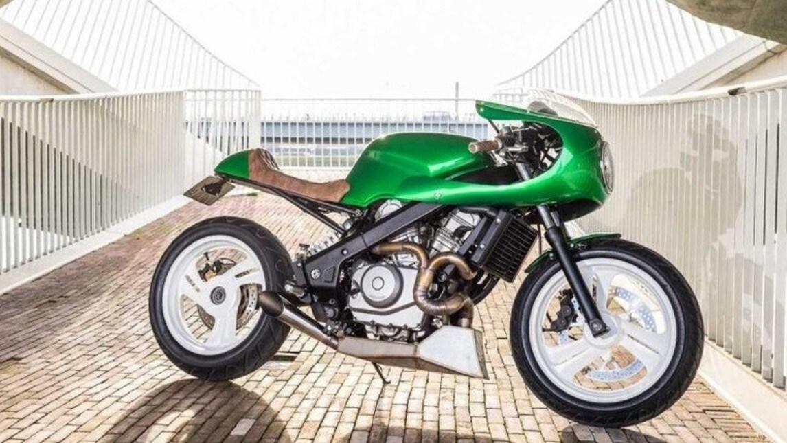 """Honda NTV650 in versione café racer: ecco """"Green Goblin"""""""