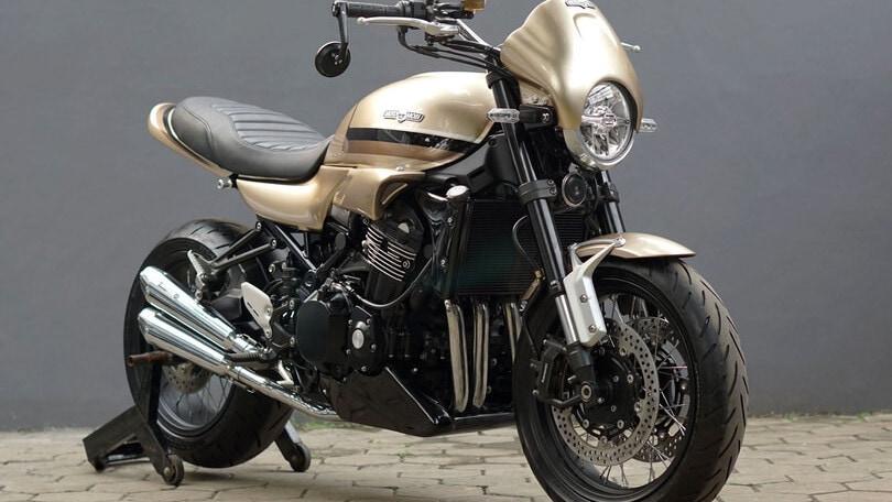 Kawasaki Z900RS, special dorata