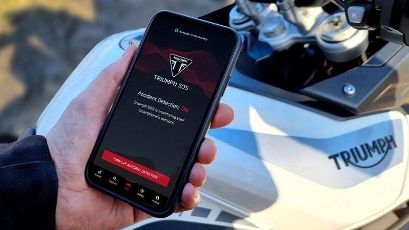 Triumph SOS, in caso d'incidente è l'app che chiama i soccorsi