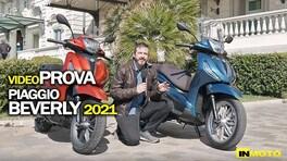 Video-prova Piaggio Beverly 300 e 400 2021: a ognuno il suo!