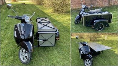 Una Vespa GTS 300 diventa una cucina mobile grazie a Watsonian Sidecars