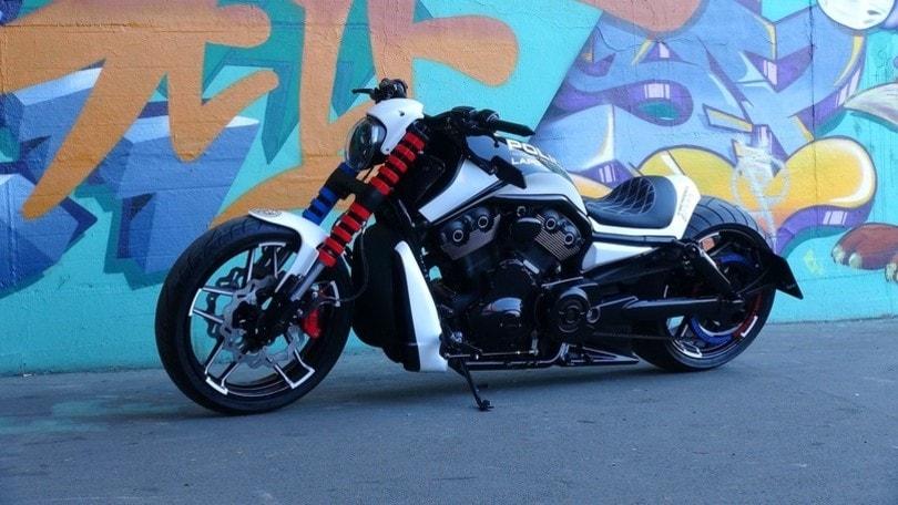 Harley-Davidson V-Rod, la LAPD 300 Razor omaggia la polizia di Los Angeles