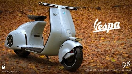 Concept Vespa 98 by Mightyseed Designs: tra moderno e retrò