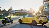 Honda CB1000R Black Edition vs. Civic TypeR LE: la sfida a Imola