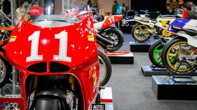 Le grandi moto d'epoca italiane sfilano a Padova