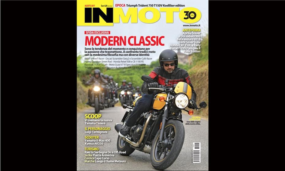 InMoto di agosto è in edicola con la sfida Modern Classic