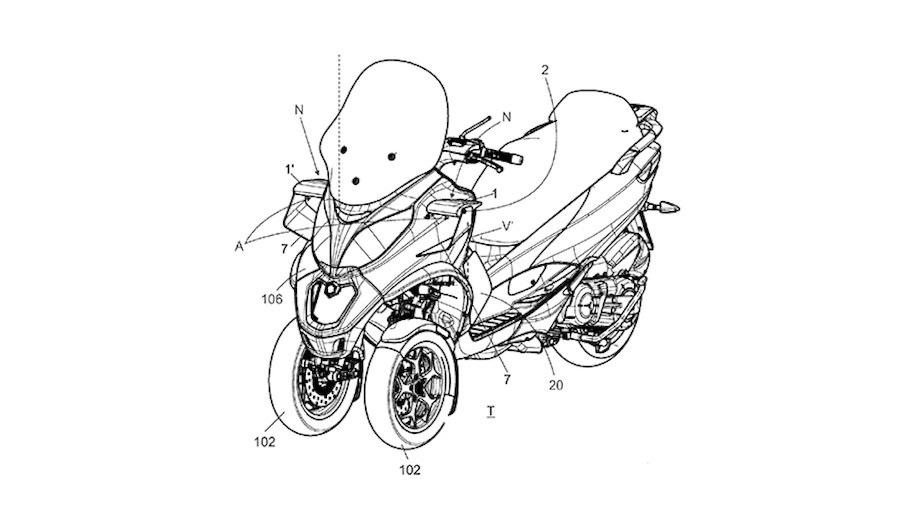 Piaggio: un brevetto per l'aerodinamica attiva