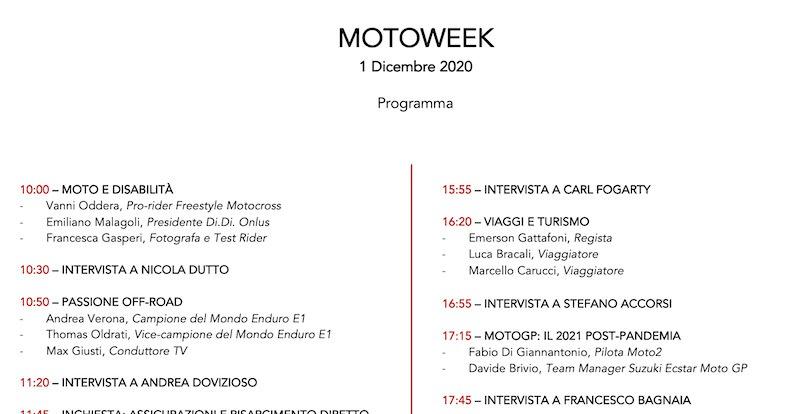 Inizia Motoweek: ecco il programma della giornata