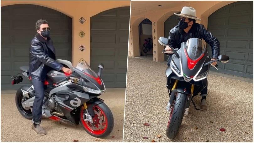 Orlando Bloom e Aprilia RS 660: nuova moto per l'attore hollywoodiano